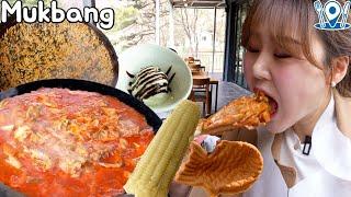가평 Day ~ ☺ 솥뚜껑 닭볶음탕, 카페, 가평휴게소 먹방 Mukbang