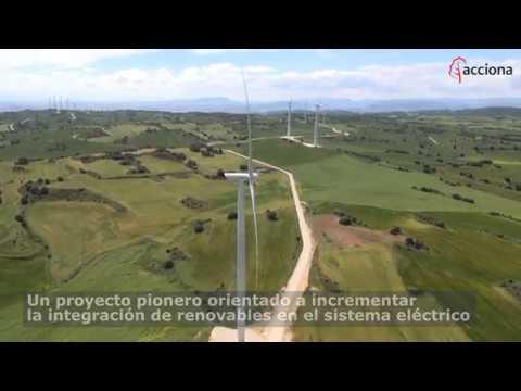 Primera planta híbrida de almacenamiento  de eólica con baterías en España