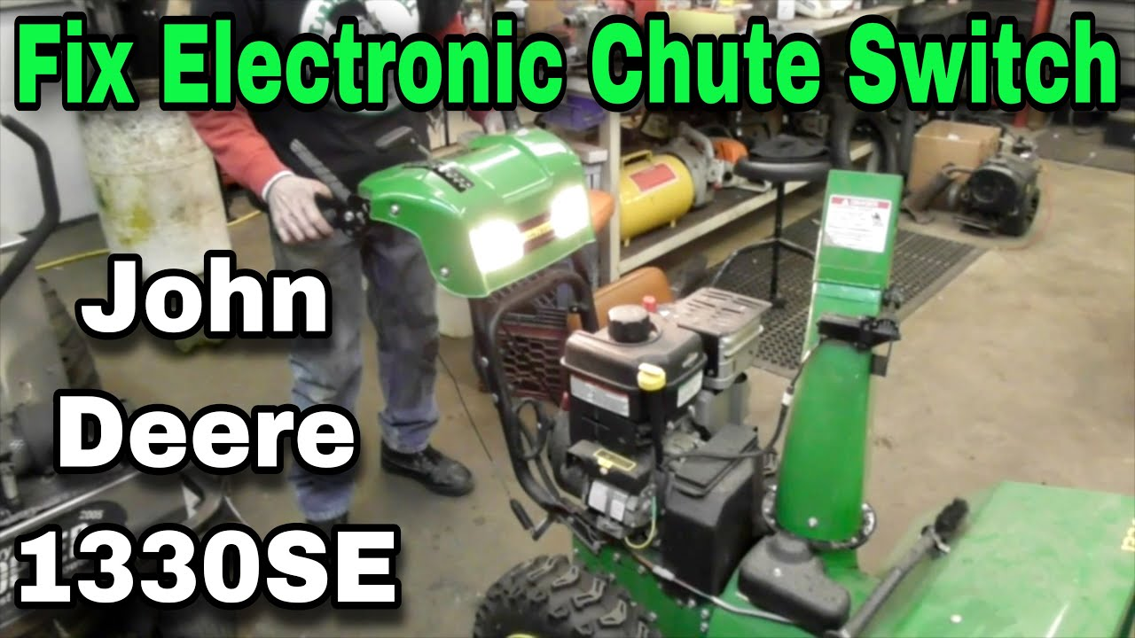 hight resolution of how to fix electric chute control switches on john deere 1330se snowblower murray snapper simplicity