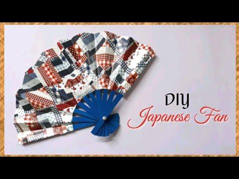 How to Make Japanese Fan - DIY Easy Japanese Hand Fan - Creative Ideas..