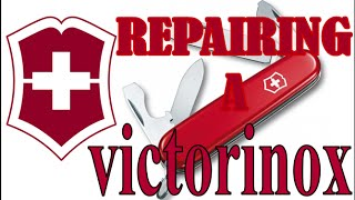repairing a victorinox pocket knife and making a new wooden scale