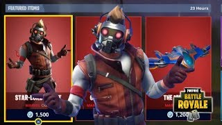 NEW STAR LORD SKIN +GUARDIAN AXE + THE MILANO GLIDER NEW FORTNITE ITEM SHOP UPDATE