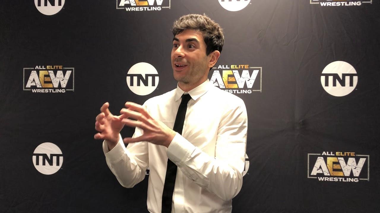 Tony Khan AEW Dynamite Post-Show Media Scrum - YouTube
