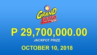 PCSO Grand Lotto 6/55 Result October 10, 2018 - Lotto Results Today