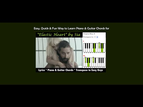 "Learn Piano & Guitar Chords For ""Elastic Heart"" By Sia"