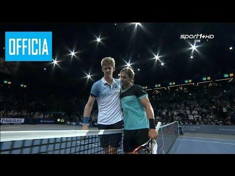 Rafael Nadal vs Kevin Anderson Paris Masters 2015 Third Round Highlights