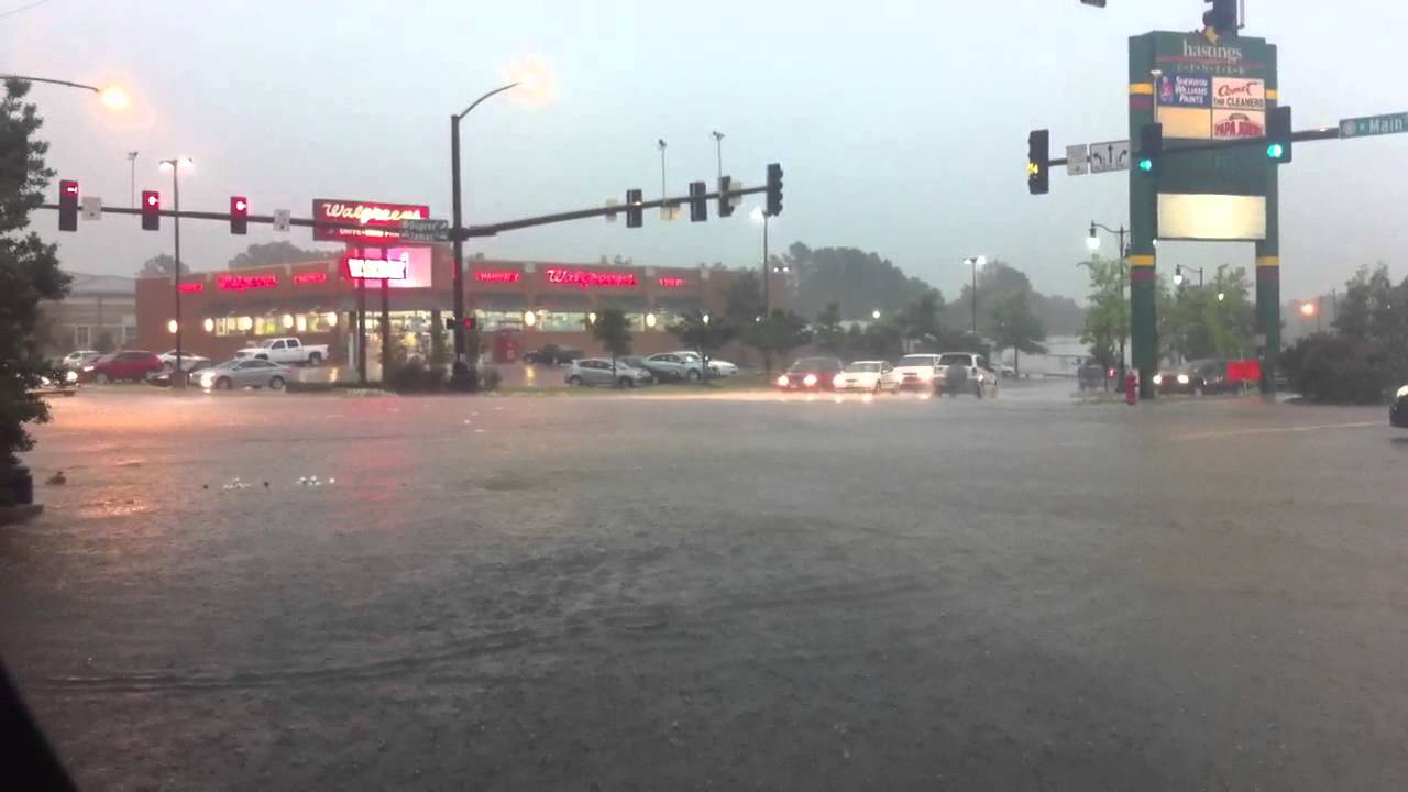 Jacksonville AR-Flooding on Main ST. - YouTube