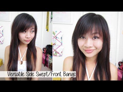 How To Cut Side Swept Full Bangs L Cute Bangs At Home Youtube