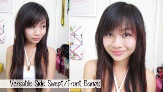 How to Cut Side Swept / Full Bangs l Cute Bangs at Home