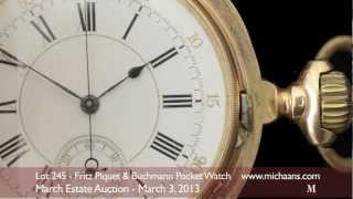 Fritz Piquet & Buchmann 18K Yellow Gold Repeater Chronograph Pocket Watch