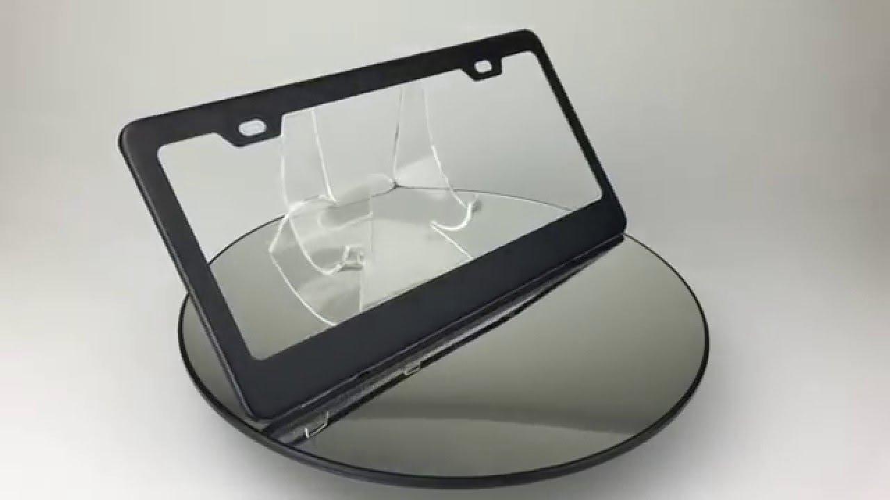 mvp matte black powder coating stainless steel license plate frame