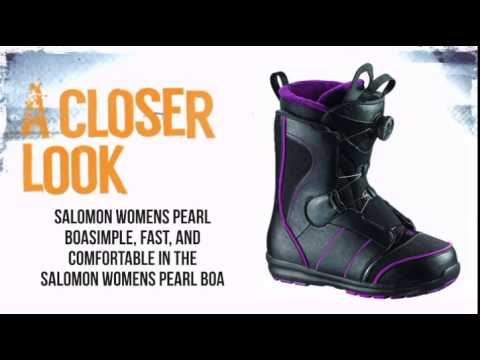 Salomon Pearl Boa Snowboard Boot Women's Black Plum