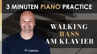 JazzPiano für Einsteiger - Walking Bass spielen - Swing Feel fühlen am Klavier