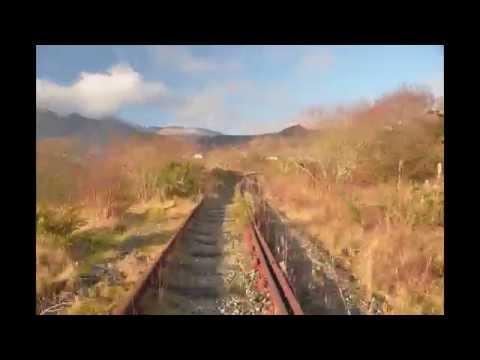 Approaching Blaenau Ffestiniog from south on old dissused railway from Trawsfynydd