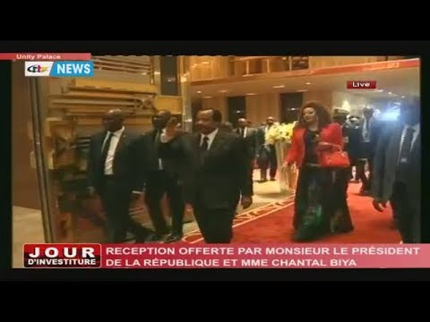 STV - JOUR D'INVESTITURE - (RECEPTION OFFERED by Paul and CHANTAL BIYA) - Tuesday 06th November 2018