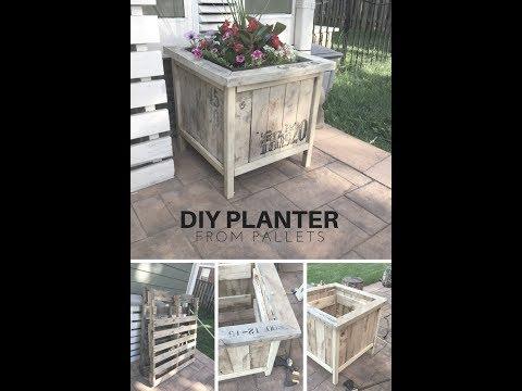 DIY zen pallet planter