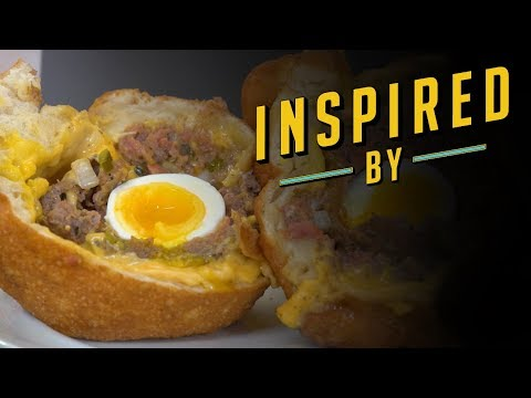 Deep Fried Scotch Egg Burger | Food Network