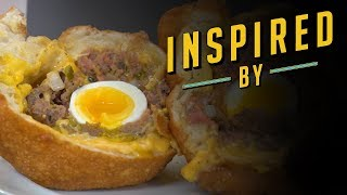 Deep Fried Scotch Egg Burger   Food Network