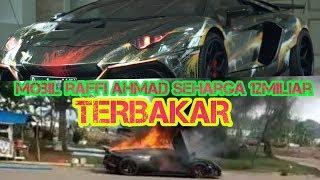 Mobil Rafi Ahmad Kebakaran  Lamborghini