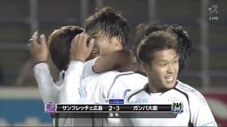 左サイドのCKからゴール前に供給されたボールを西野 貴治(G大阪)が頭...