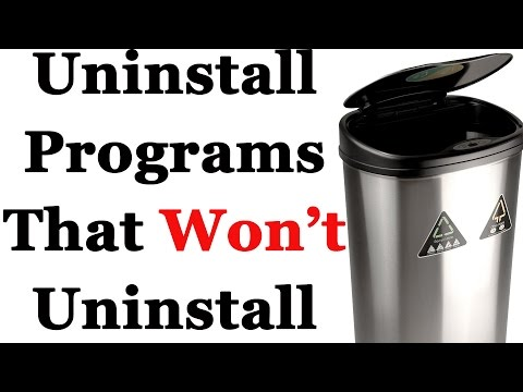 How To Completely Uninstall Applications That Won't Uninstall