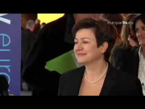 Bulgarian candidate Kristalina Georgieva after the hearing