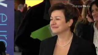 Bulgarian candidate Kristalina Georgieva after the hearing