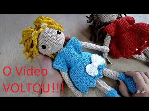 Boneca AMIGURUMI  -  SEM COSTURA - Vídeo Completo