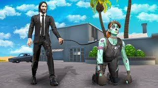 The JOHN WICK HOUSE ONLY Challenge  -  Fortnite Battle Royale
