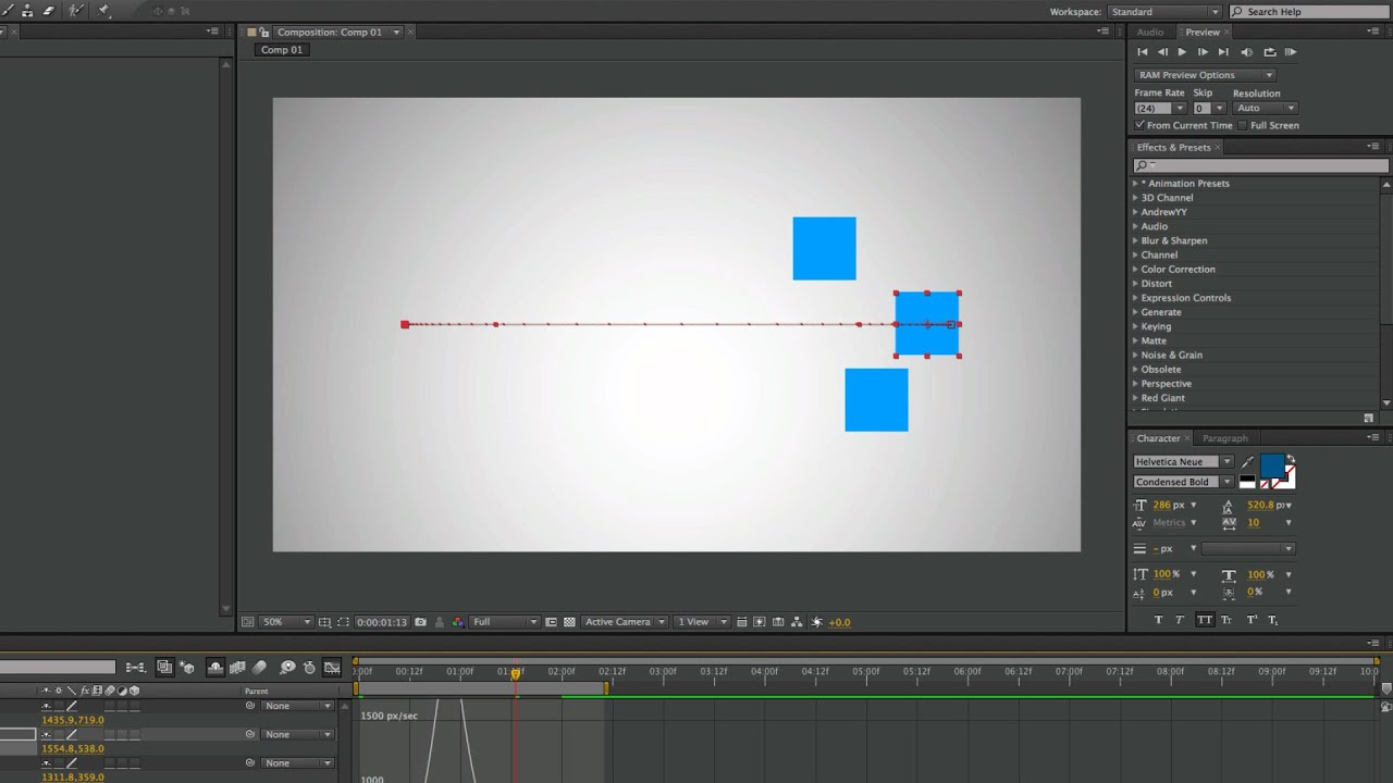 After Effects Basics #7 - How to Make Smooth Keyframes