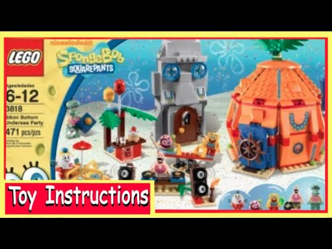How To Build Lego Spongebob Squarepants 3818 Bikini Bottom Undersea