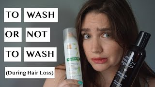 TO WASH, OR NOT TO WASH (During Hair Fall) | Telogen Effluvium + Hair Loss | Hair Fall + Regrowth