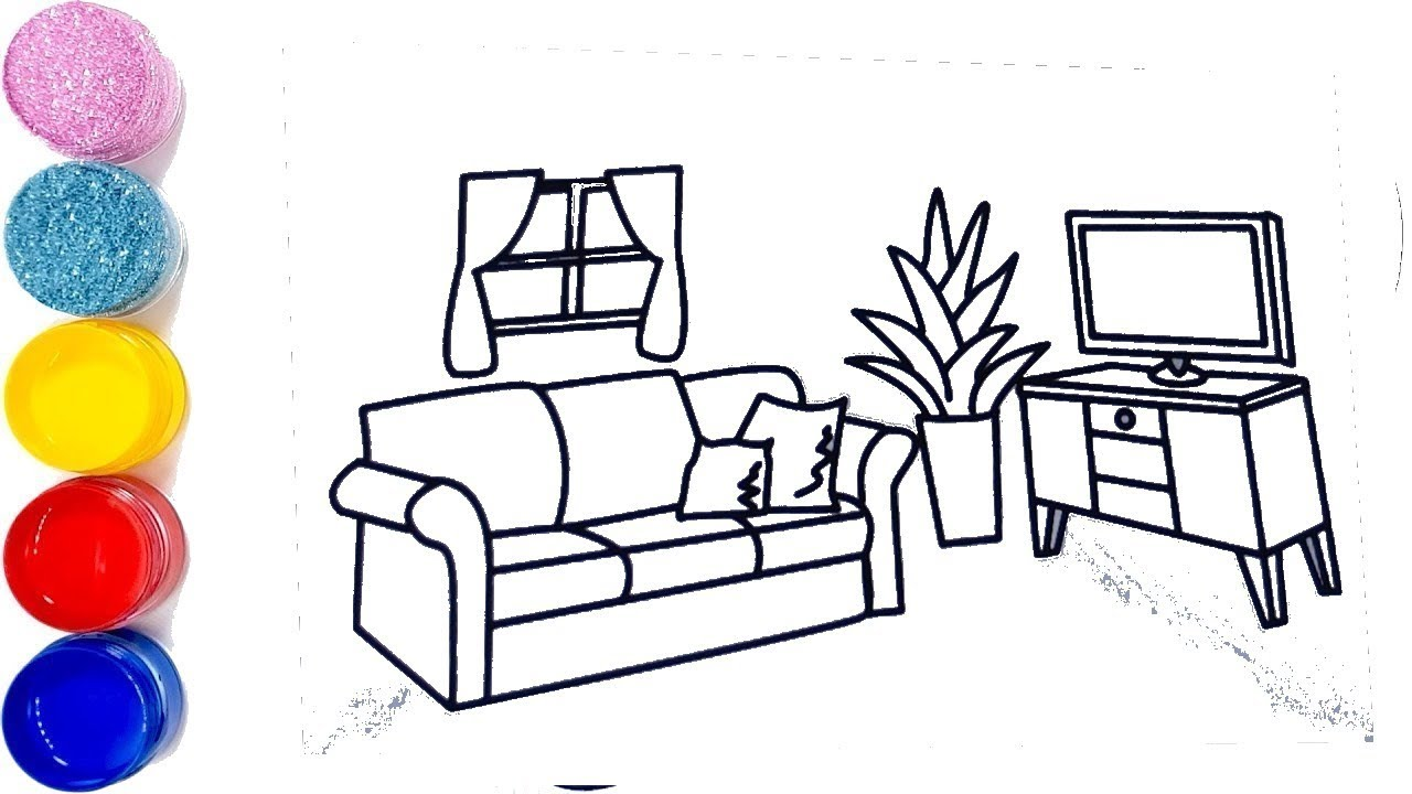 Tuto Dessin Comment Dessiner Un Salon How To Draw A Living Room Youtube