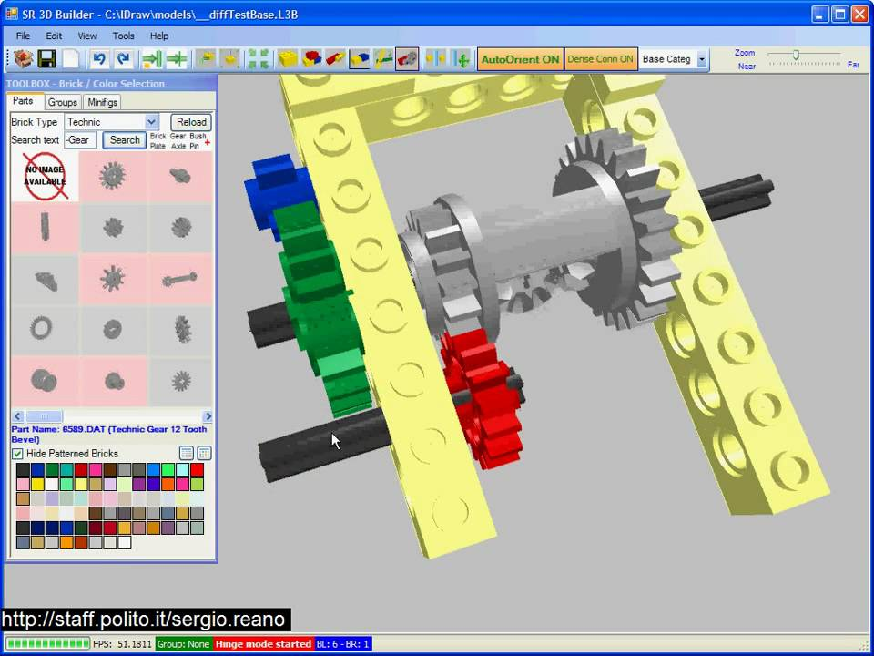 Lego sr 3d builder technic 3 youtube for Builder online