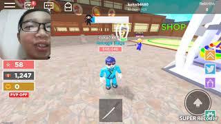 Chơi game Ninja trong roblox
