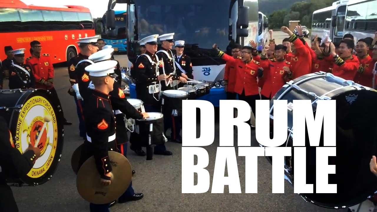 Marine Drum Battle Face-Off!