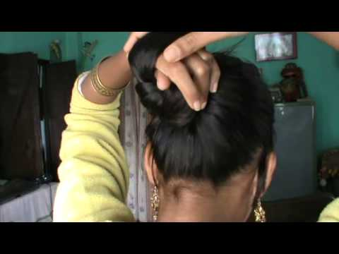 New Updo Without Using Elastic Bands And Bobby Pins Youtube