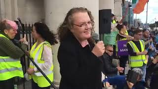 Prof Dolores Cahill Time For Change Rally Customs House Dublin 22/08/2020 #TimeForChange