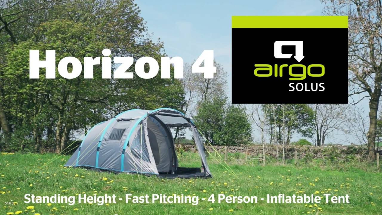 & Airgo Solus Horizon 4 Air Tent - YouTube