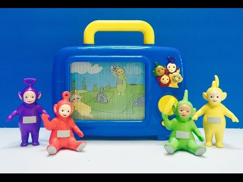 TELETUBBIES Rare and Retro Musical Wind Up Television Toy!