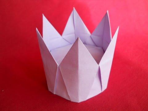 Королевская корона оригами.Royal crown Origami