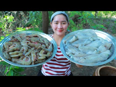 Yummy Shrimp Cooking Squid Salad – Salad Recipe – Cooking With Sros