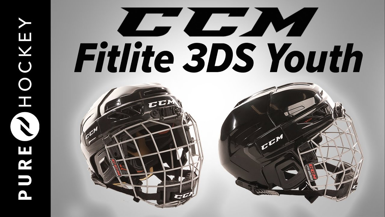 fe033698963 CCM FitLite 3DS Youth Hockey Helmet Combo