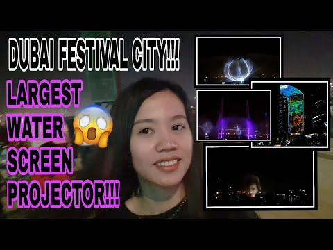 LARGEST WATER SCREEN PROJECTION |GUINNESS WORLD RECORDS BREAKER |DUBAI FESTIVALCITY | Holiday vlog#3