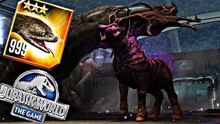 LEVEL 9999 TITANOBOA VS MAELSTROM 08 - JURASSIC WORLD THE GAME - BOSS BATTLE(modify lvl)