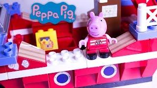 Peppa Pig Pirate Ship Peppa Pig Building Toys Peppa And George Barco Pirata Navio Pirata Megabloks