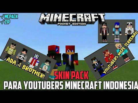 Skin Pack Lengkap Youtubers Minecraft Indonesia Minecraft PE - Skin para youtuber minecraft indo