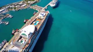 Aerial view Grandeur of the Seas in Bermuda