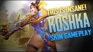 Vainglory Skins - RED LANTERN [SE] SKIN!! Koshka |CP| Jungle Gameplay [Update 1.24]