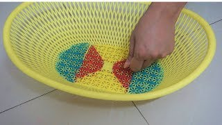 Beautiful and Innovative Rangoli Design Using Basket